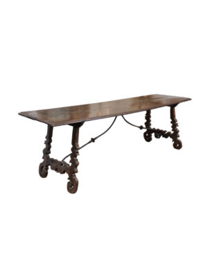 17th Century Italian Chestnut Hall Table