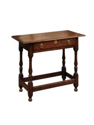 18th Century English Oak Side Table