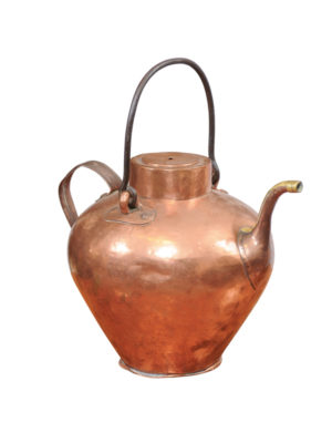 18th Century Italian Copper Kettle with Iron Handle
