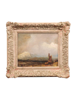 19th Century French Oil on Canvas Seascape