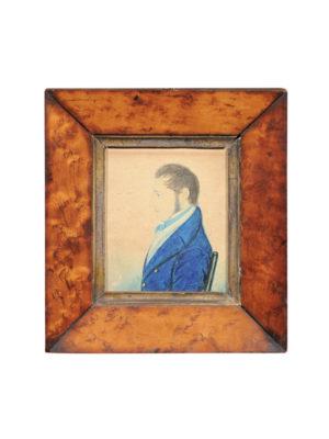 19th Century Miniature Gentleman Portrait