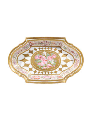 19th Century Paris Porcelain Shaped Dish