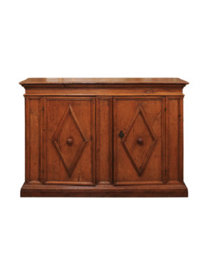 Baroque Period Chestnut Credenza with Diamond Detail