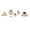 Collection 19th C Cut Glass Inkwells