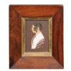 Framed 19th Century Miniature Portrait of Lady