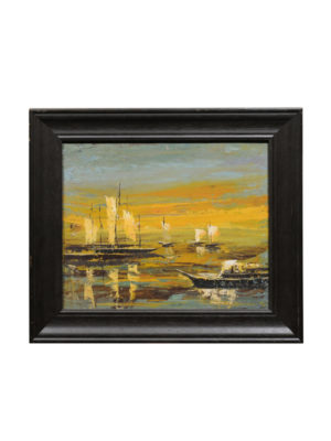 Framed 20th Century Oil on Canvas Seascape