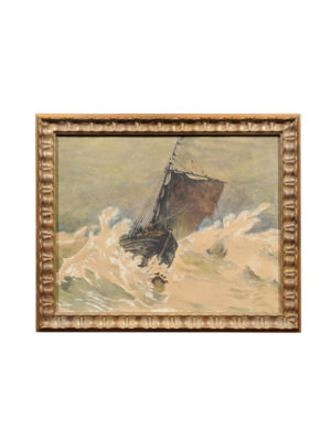 Framed Early 20th Century Watercolor of Sailboat