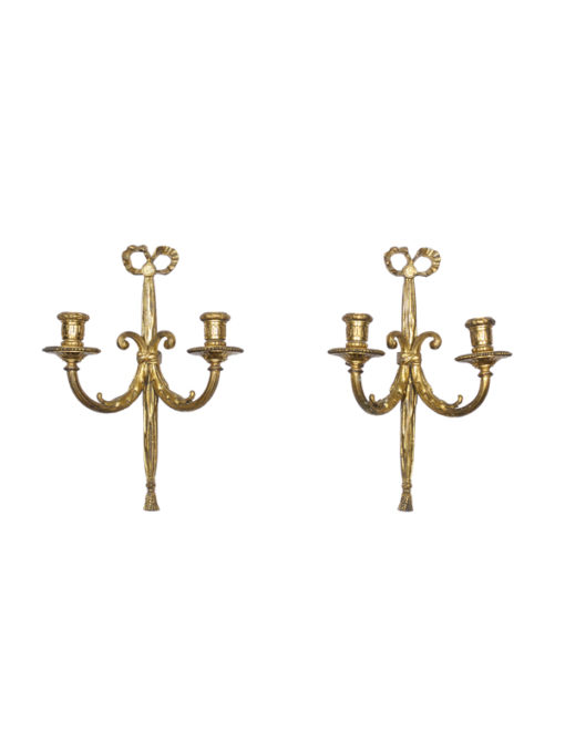 Louis XVI Style Gilt Bronze Sconces