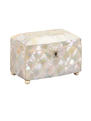Mother of Pearl Tea Caddy 19th C