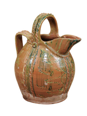 Painted Terracotta Pottery Jug