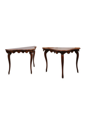 Pair 19th Century Italian Walnut Consoles