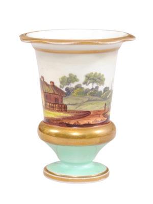 Paris Porcelain Vase with Landscape Scene