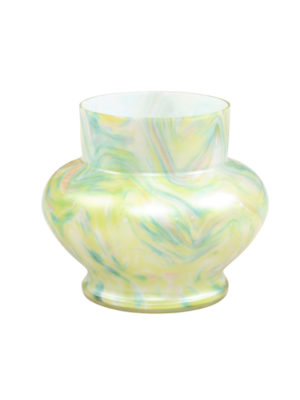 Pastel Art Glass Flower Vase