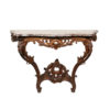 Regence Period Oak Wall Mount Console with Marble Top