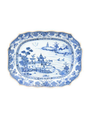18th Century Chinese Export Blue & White Platter