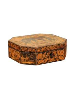 19th Century English Penwork Box
