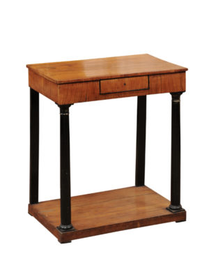 Biedermeier Petite Console with Ebonized Column Detail