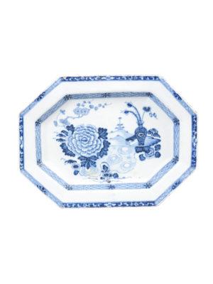 Chinese Export Blue & White Platter