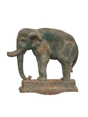 Cast Iron Doorstop of Elephant