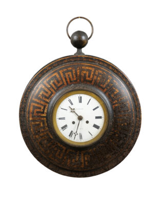 French Directoire Period Tole Wall Clock