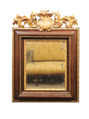 17th Century Italian Mirror with Acanthus Leaf Detail