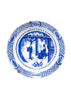 18th Century Blue & White Delft Charger