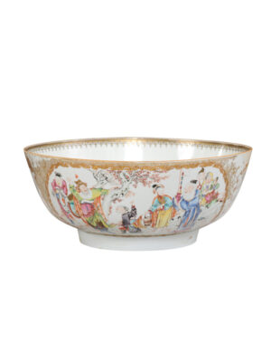18th Century Chinese Export Punch Bowl