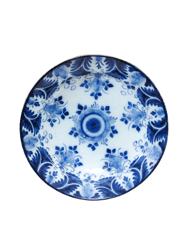 19th Century Blue & White Delft Charger