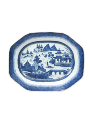 19th Century Chinese Export Blue & White Platter