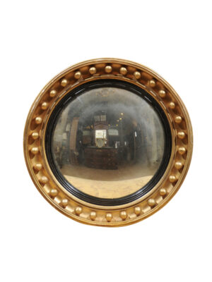 19th Century English Giltwood Bullseye Mirror