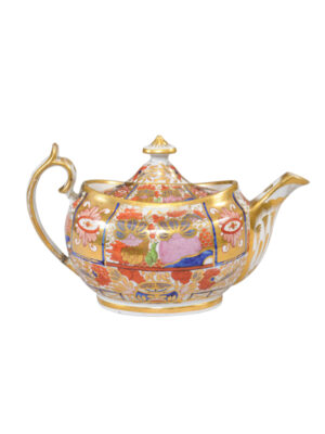 19th Century English Porcelain Teapot
