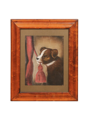 19th Century Framed Dog Portrait