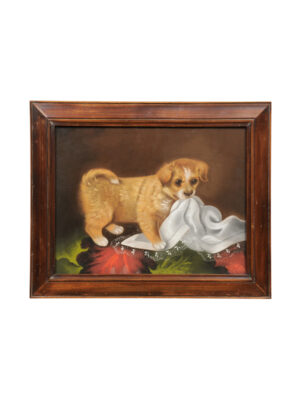 19th Century Pastel Dog Portrait