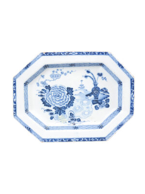 Chinese Export Blue & White Platter