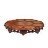 English Rosewood Lazy Susan with Carved Decoration
