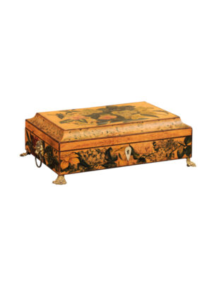 Regency Box with Painted Floral Designs