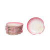 Set 11 Wedgewood Pink Shell Shaped Plates