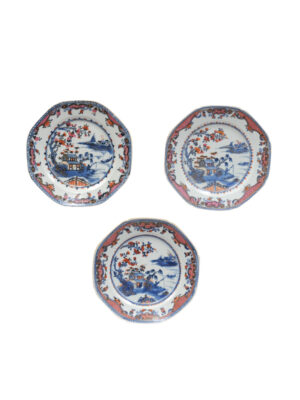 Set 3 Octagonal Chinese Plates