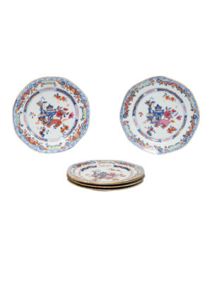 Six Famille Rose Plates