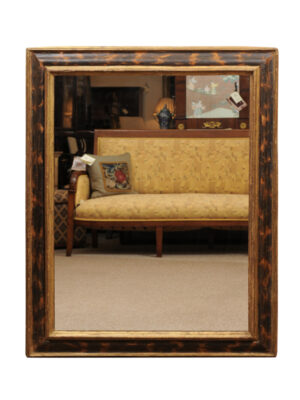 17th Century Italian Parcel Gilt & Painted Mirror