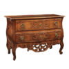 18th Century French Walnut 2-Drawer Commode