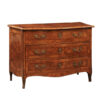 18th Century Italian Parquetry Inlaid 3-Drawer Commode