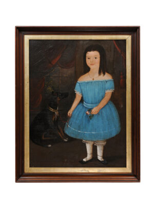 19th Century American Folk Art Portrait of a Girl