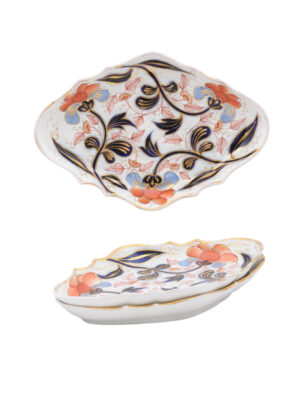 19th Century English Coalport Lozenge Dishes