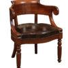19th Century French Walnut Desk Chair