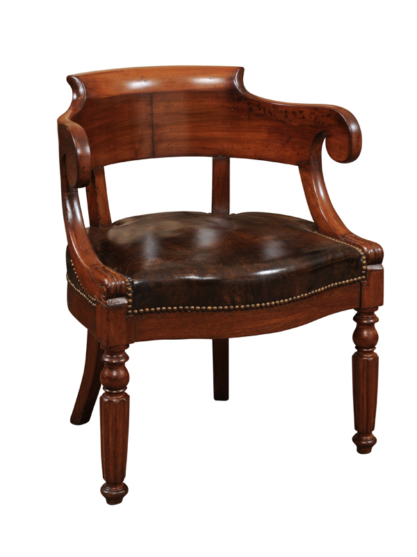 19th Century French Walnut Desk Chair