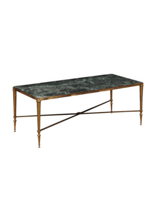 20th Century Brass & Marble Coffee Table