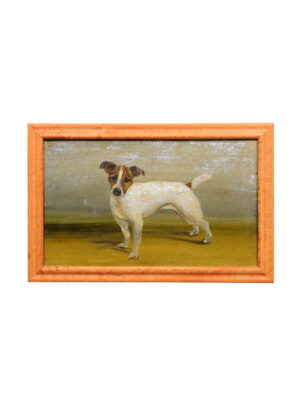 Framed 20th Century Dog Painting