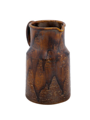 Italian Brown Glazed Pottery Pitcher