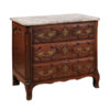 Louis XV Walnut Chest with Marble Top